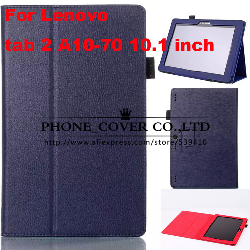 Magnet Stand Litchi leather case cover For Lenovo Tab 2 A10-70 10.1 tablet case for lenovo tab 2 10 inch case +screen protectors 3 in 1 hot sale new arrival stand litchi pu leather case cover for lenovo a7600 a10 70 a10 70 tablet pc stylus screen film