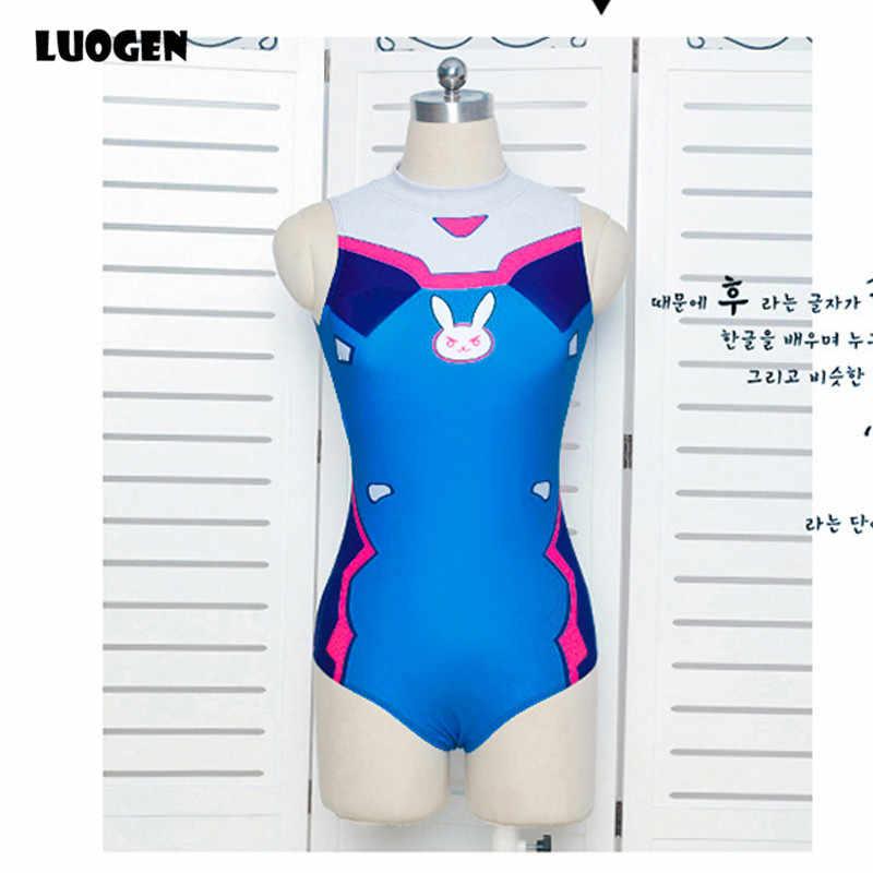 Seksowna gra OW D. VA Dva miłosierdzie Cosplay kostium One Piece stroje kąpielowe Evangelion EVA strój kąpielowy SUKUMIZU S-L