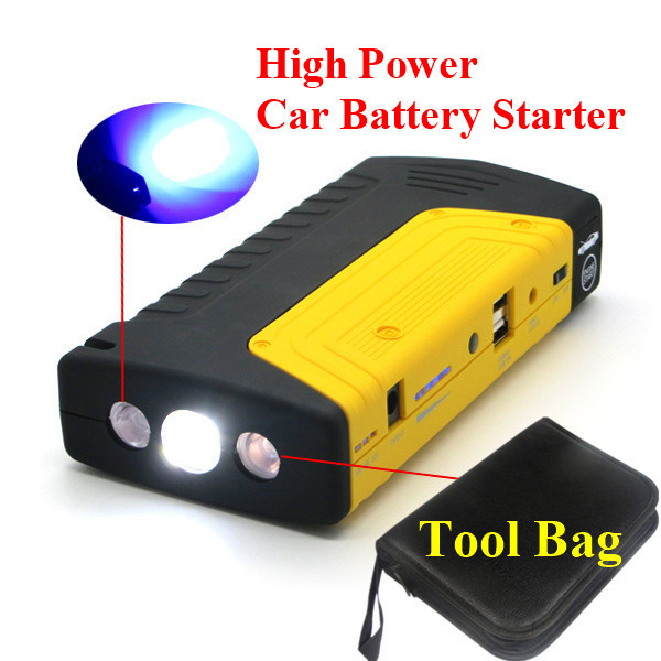 Emergency 9000mAh Car Jump Starter 400A Peak Car Battery Starter Multi-Function 2USB 2.0A Output Power Bank SOS Light Free Ship