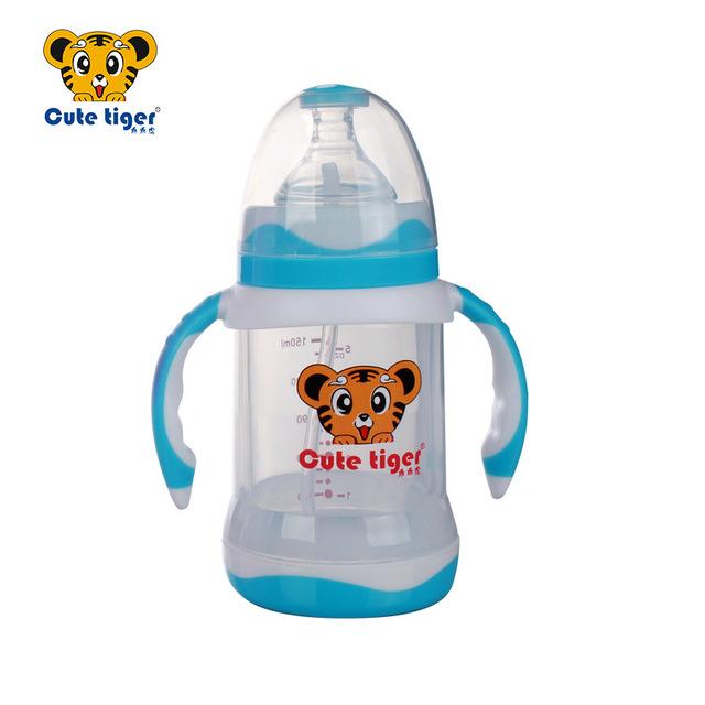 150 ml botella de vidrio de cute baby bebé recién nacido copa children learning beber jugo de paja mango niño botella de agua 1 ps nz18, dos colores