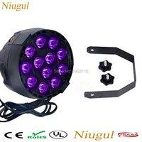 Niugul 12x3w LEDs Sound Active UV Led Stage Par Light Ultraviolet Led Spotligh Lamp For Disco
