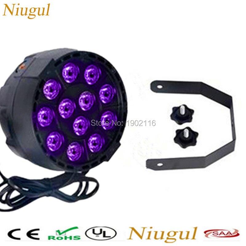 Niugul 12x3W LEDs Sound Active purple Led Stage Par Light violet Led Spotlight for Disco DJ Projector Machine Home Party lamp portable music auto sound active leds