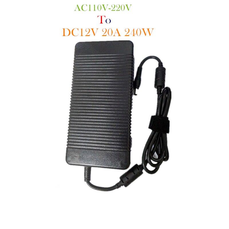 DC 12V 20A 240W alimentation transformateur commutateur AC 110 V/220 V à DC 12V 20amp adaptateur de commutation convertisseur pilote pour bande de LED