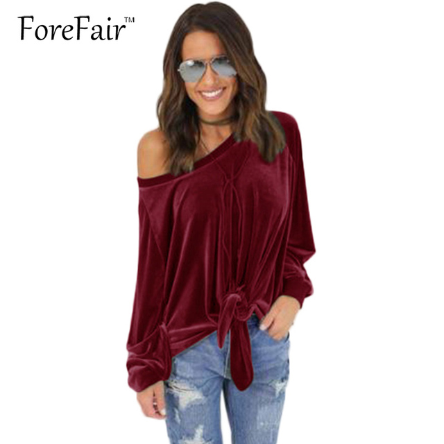 2017 Fashion Casual Velvet Tops Women Long-Sleeve Spring Top Casual Loose Female T-shirt Grey/Green/Wine-Red/Brown Clothing