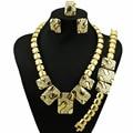 11.11 big discount african18k banhado conjuntos de jóias de ouro de preços por atacado com boa qualidade conjunto de jóias africano mulheres colar banhado a ouro