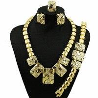 Großen rabatt afrikanisches gold schmuck-sets großhandel preis mit guter qualität afrikanischen schmuck-set frauen halskette gold farbe