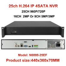 4 SATA 16ch 1080P CCTV NVR 25CH 960P 9ch 5mp/4mp/3mp IP cctv camera input ONVIF network video recorder HDMI P2P Motion detection