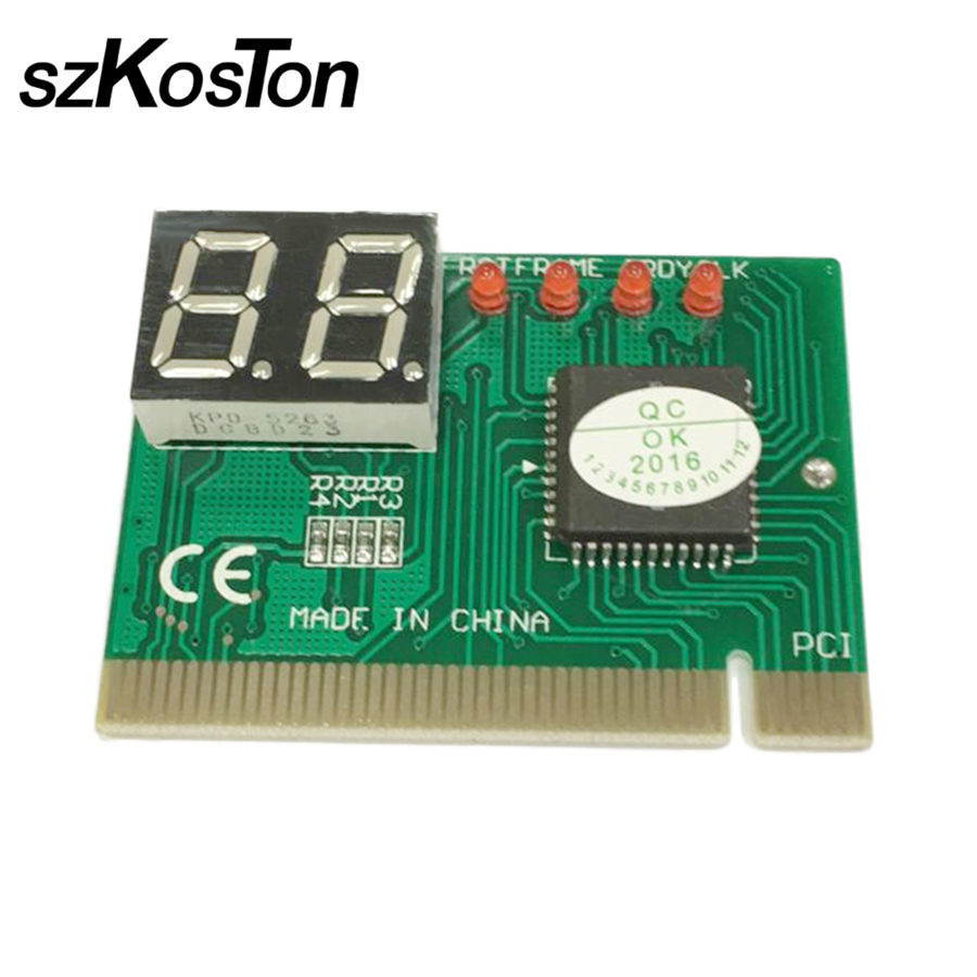 PCI PC Diagnostic 2-Digit Card Motherboard Post Tester Analyzer Checker for Laptop computer PC Newest in Stock drop shipping