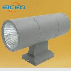 (EICEO) W górę iw dół COB LED ściana światło na zewnątrz 9 W * 2 wodoodporna IP65 aluminium nowoczesne dekoracyjne łazienka zewnętrzne oświetlenie ścienne LED