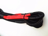 Free Shipping 12mm 6m Kinetic Recovery Rope Energy Recovery Rope Double Braided Nylon Rope For 4X4