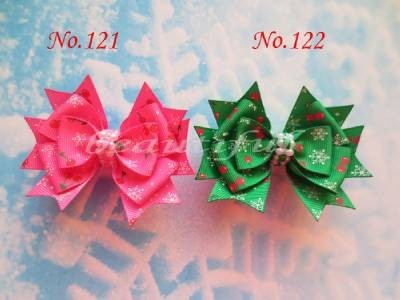 """100 pcs BLESSING Good Girl Boutique 3.5""""Snowflake Hair accessories Bow Clip"""