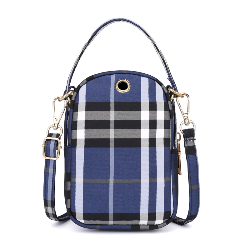 Women's mini bag trend single shoulder Messenger bag factory direct light waterproof nylon cloth bag mobile phone key bag 3