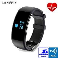 Lanvein смарт-браслет D21 смарт-браслет сердечного ритма Мониторы SmartBand Шагомер трекер Фитнес для IOS Эндрюс телефон