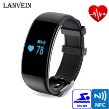 LANVEIN Smart Wristband D21 Smart Bracelet Heart Rate Monitor Smartband Pedometer Activity Tracker Fitness for IOS Andrews phone