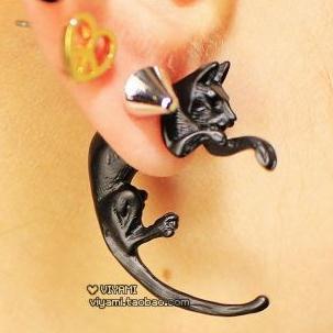 Min $5(mix order) Korea stereo cat cute animal long tailpiercing earrings  fashion Stud Earrings-in Stud Earrings from Jewelry & Accessories on Aliexpress.com   Alibaba Group