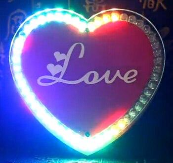 Renkli LED kalp DIY yapma kiti lehimleme öğrenme kiti Yaratıcı hediyeler led diy elektronik kiti AA pil güç kaynağı