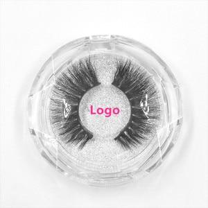 Image 5 - 50pcs Mink Lashes Luxury Natural long Mink False Eyelashes Cross Thick Extension Eyelashes 18Styles Free Logo Wholesale