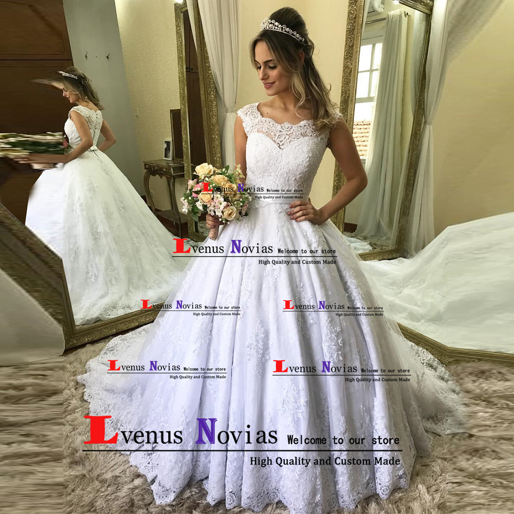 Vestido De Noiva Plus Size Sexy Bridal Dress Vintage Lace Ball Gown Wedding Dresses 2019 Wedding