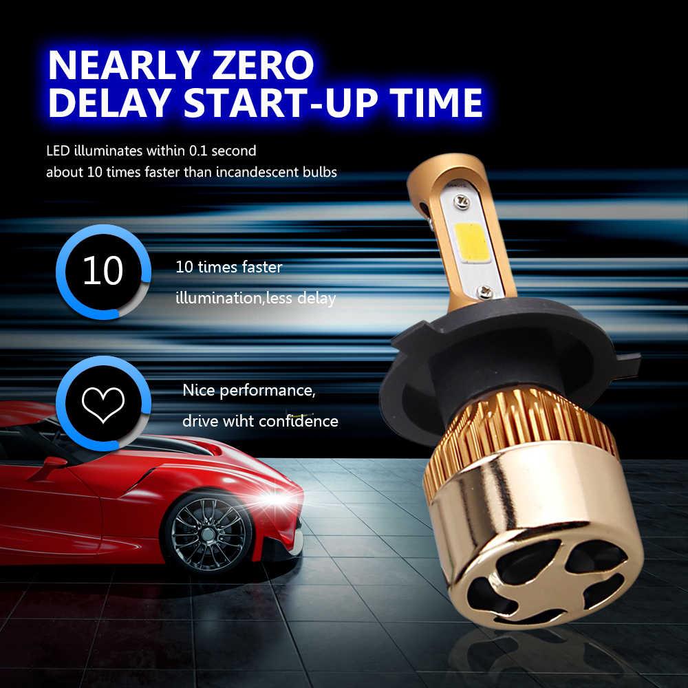 DARKEYE H1 LED H4 H11 H7 9005 9006 H8 H3 H9 880 9007 Car Headlight Bulbs 60W 8000LM 6500K 4300K 8000K 3000K COB led Lamp 2PCS