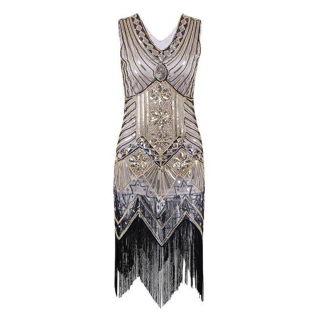 56656322d V neck frisado lantejoula art deco gatsby flapper dress grande gatsby  inspirado vestidos de festa franja