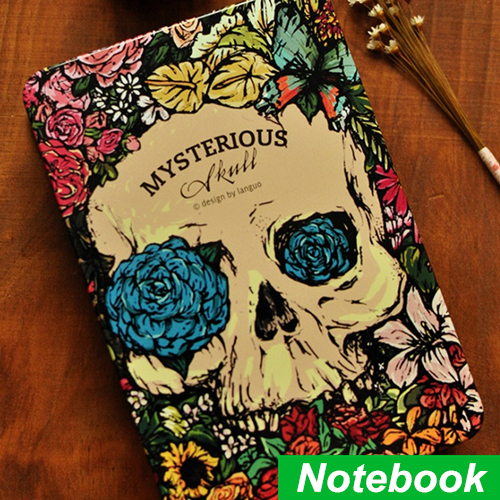 Mysterious Rose skull Notebook Angel & demon design diary copybook note book for journal agenda Novelty School supplies 6628