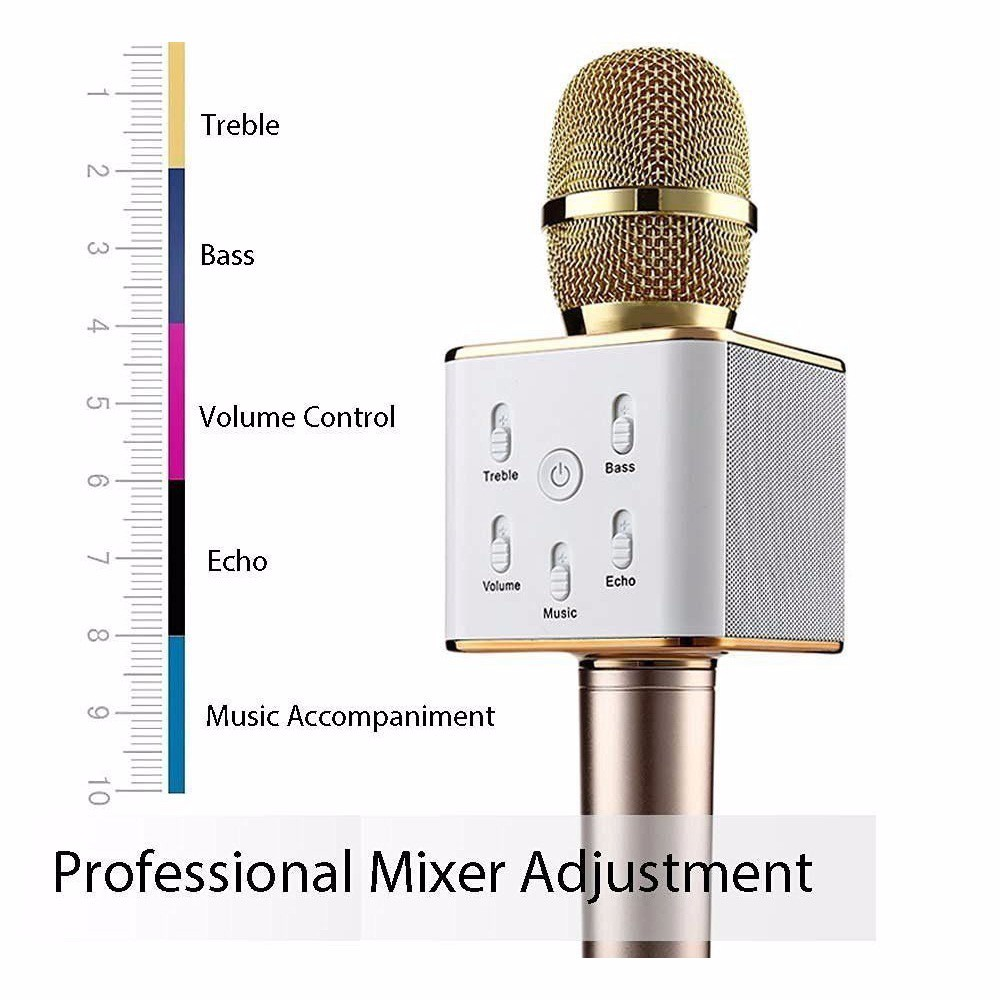 Q9 Magic Bluetooth Karaoke Ktv Sing Microphone Wireless Mic Player Original Brand Professional Speaker With Carring Case For Iphone