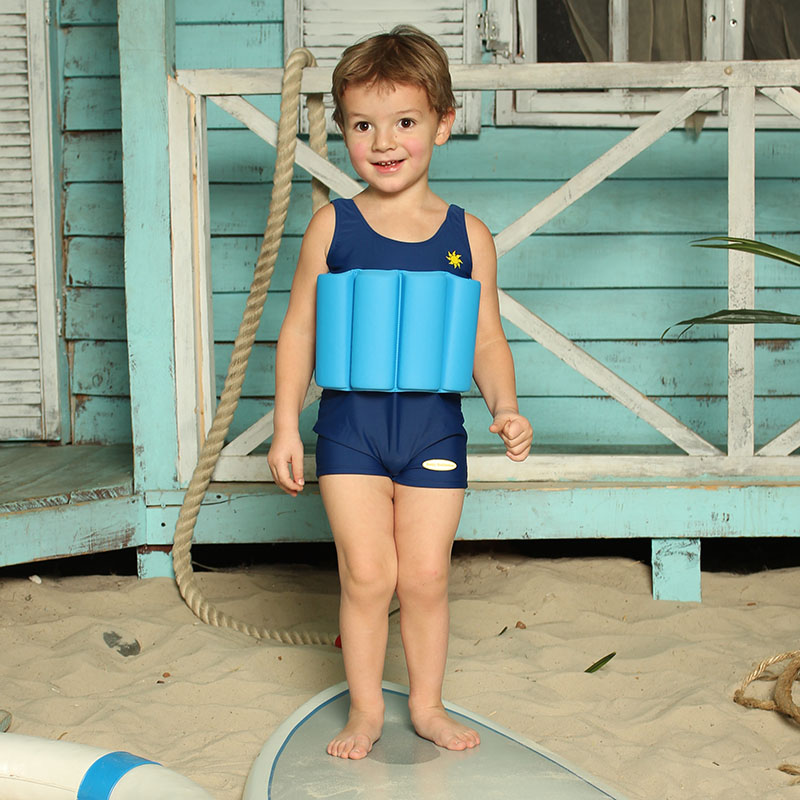 Baby Swimmer Children's bathing suit for the boy blue baby swimmer towel the corner makhra 100 100 lime bst11c