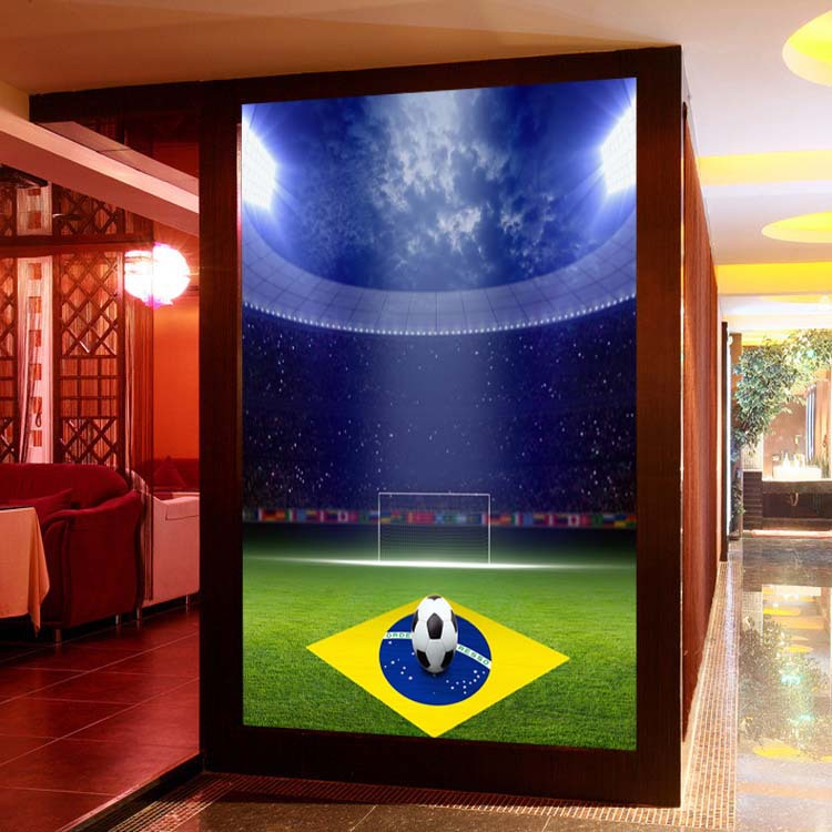 ... Custom Sports Football 5D Papel Mural Theme Stadium 3d Wall Mural  Wallpaper For Club Bar Sofa ... Part 96