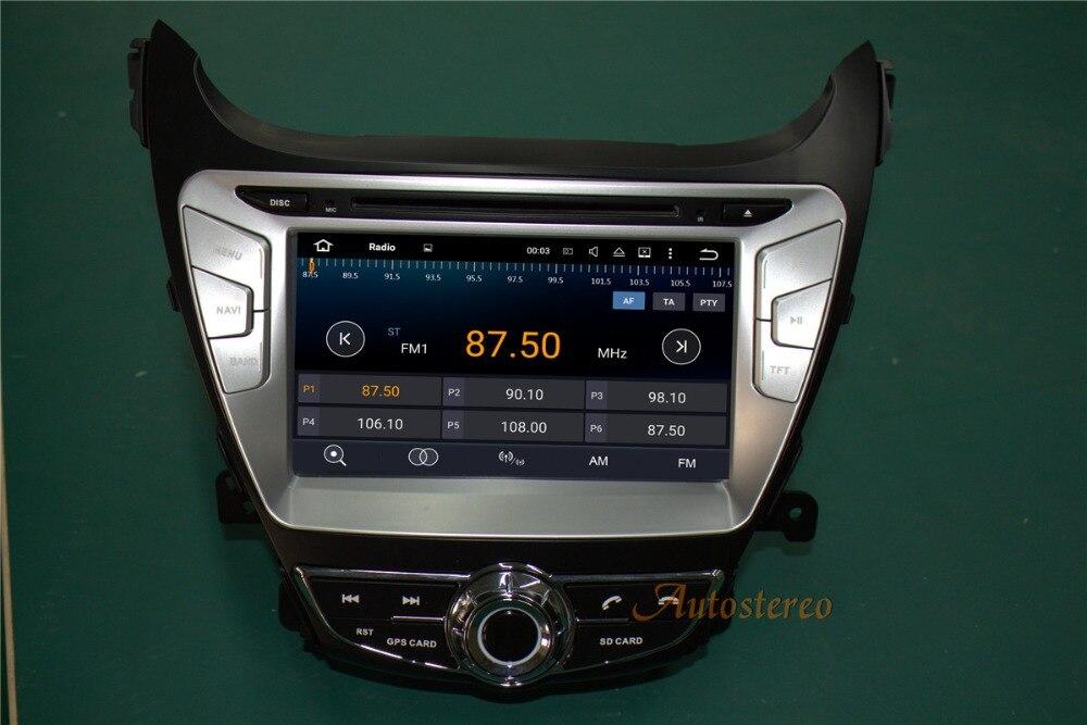 Android7 1 Car GPS Navigation DVD Player For Hyundai Elantra MD 2011 2013 Avante MD car