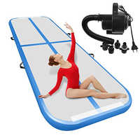 Hot sales (4m5m10m)*2m*0.2m Inflatable Gymnastics Airtrack Tumbling Air Track Floor Trampoline For Home Use/Yoga/cheerleading