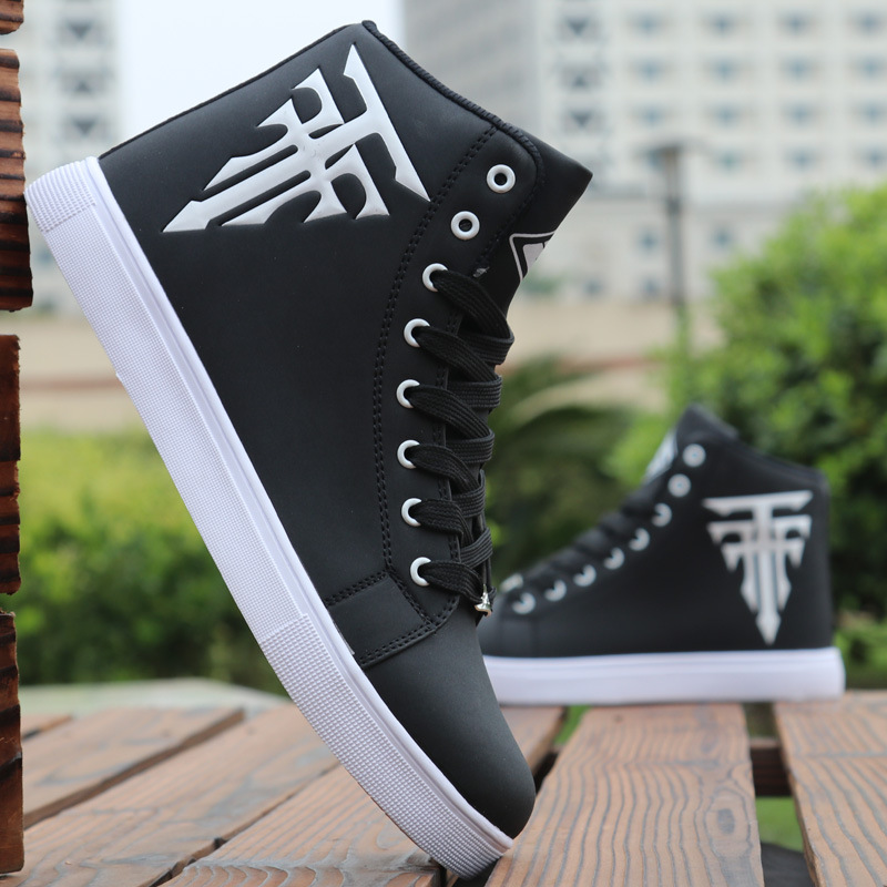 New Fashion Men Skateboarding Shoes High Top Sneakers  Breathable Sports Shoes White Shoes Street Shoes Chaussure Homme
