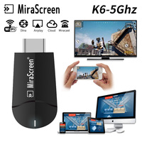 Cheap! K6 5G TV stick MiraScreen 4K 1080P HD WIFI Wireless Dual Band Display Donge Miracast Airplay Mirroring For ios/ Android