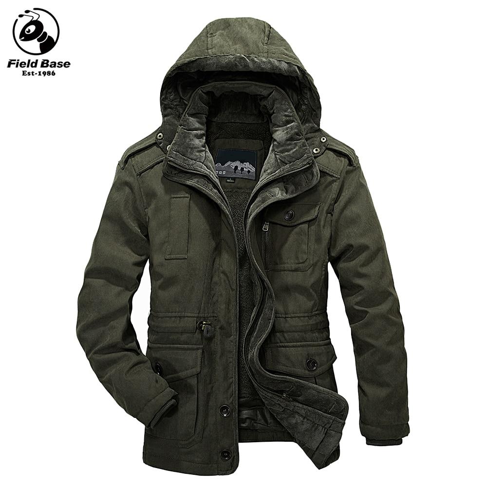 Men's Casual Jackets Winter Jacket Men Thick Warm Parkas Outerwear Coats Hooded Two Jackets In One Windbreaker Male LM-1358