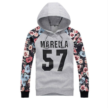 Spring Mens Hoodie Fashion Clothing Floral Printing Outerwear Autumn Japanese Hooded Sweatershirt Black Jackets Casual Grey Coat