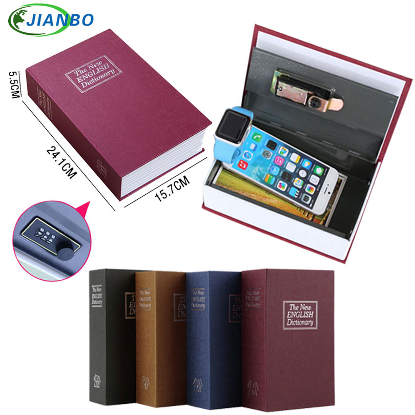 Dictionary Safe Box Secret Book Money Hidden Security Safe Lock Cash Money Coin Storage Jewellery Password Locker For Kid Gift стоимость