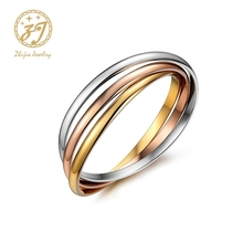 Zhijia New tricolor bracelet & bangle stainless steel rose gold silver and color mix winding Bangle Bracelets 3 Colors