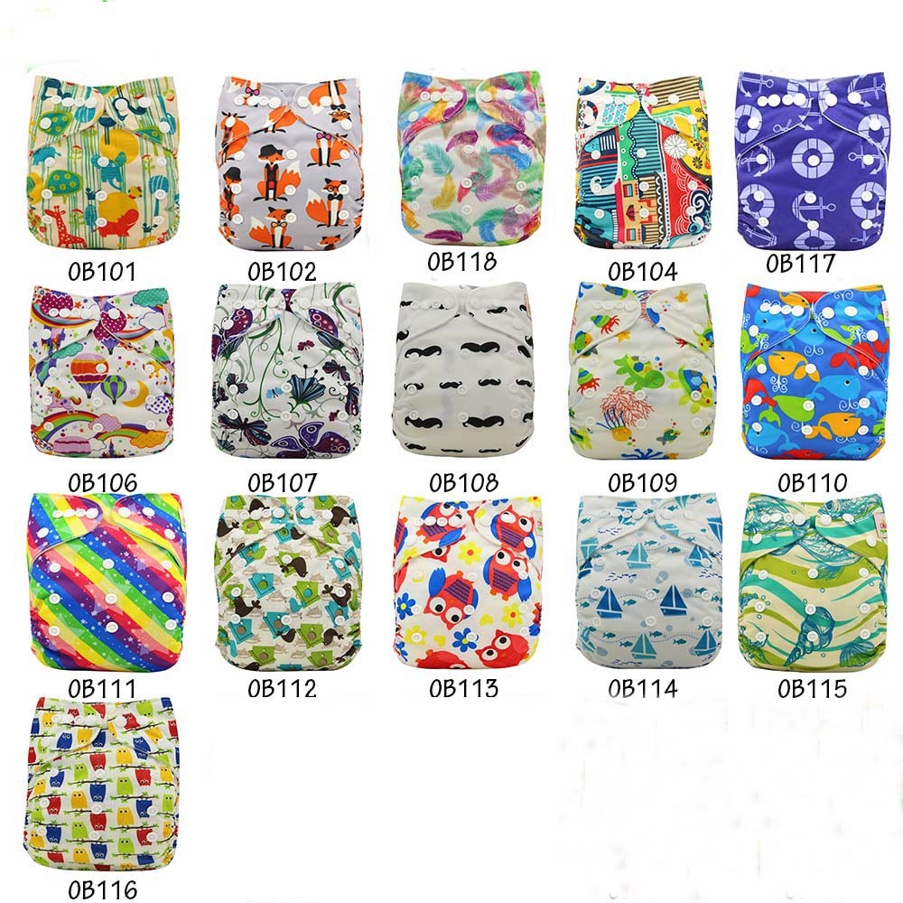 20pcs/Lot Reusable Baby Diapers 2018 Brand Baby Cloth Diaper Cover Washable Nappy Changing Infant Pants One Size Adjustable