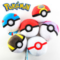 12cm Pokeball Master Ball Plush Toy Keychain  Poke Ball Soft Doll Chain Stuffed Keyrings Kids Babe Ball Pikachu Figure