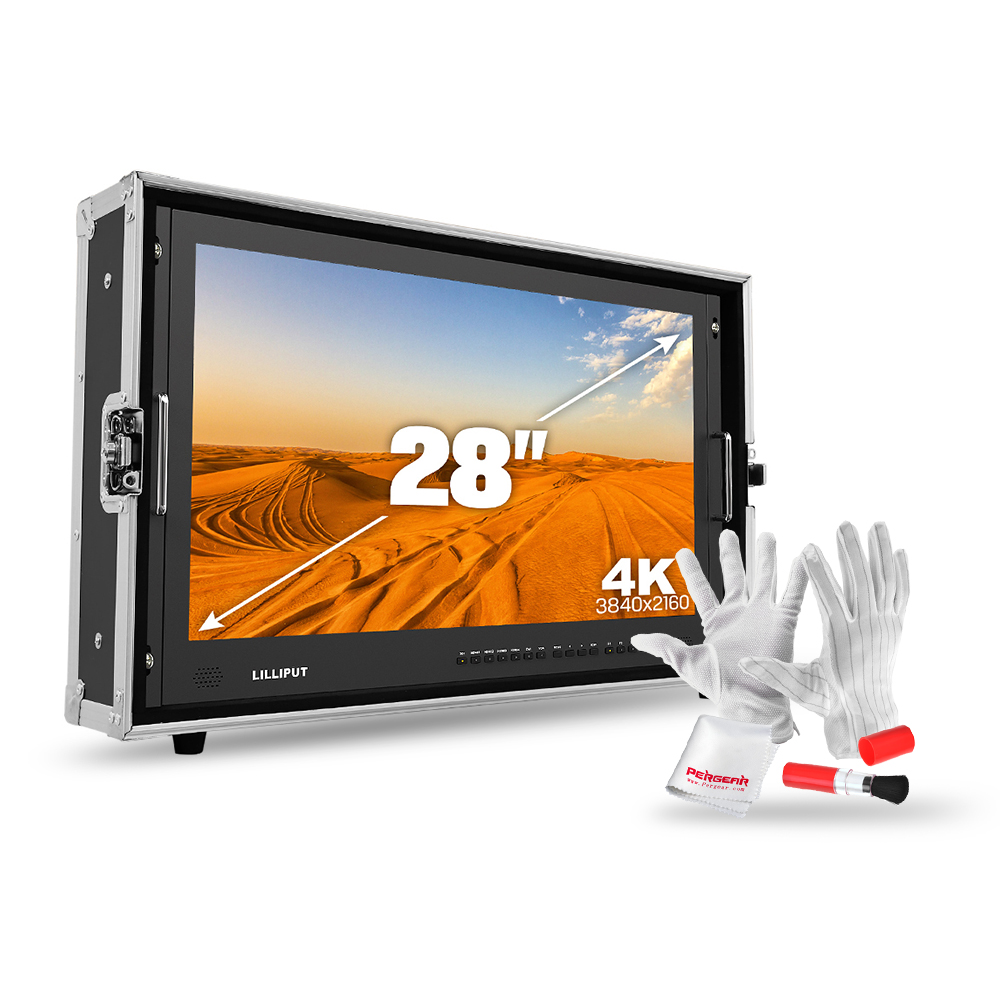 LILLIPUT 3840*2160 Ultra HD 4K Monitor w/ 3G-SDI/HDMI/VGA/DVI/Audio Interfaces,Optional Wireless HDMI,4K Monitor+XLR Connector atlas mavros ultra 1 0m xlr