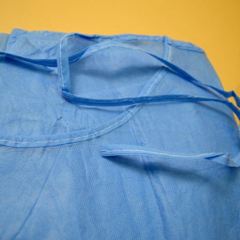 Image 3 - 10 pz Rosa Monouso Camice Chirurgico Abito Sottile E Leggero  Vestiti di Polvere Tute e Salopette Una Volta Grembiuli Abbigliamento  Medica Per Camere Bianche Abbigliamento-in Indumenti di protezione da  Sicurezza e protezione su