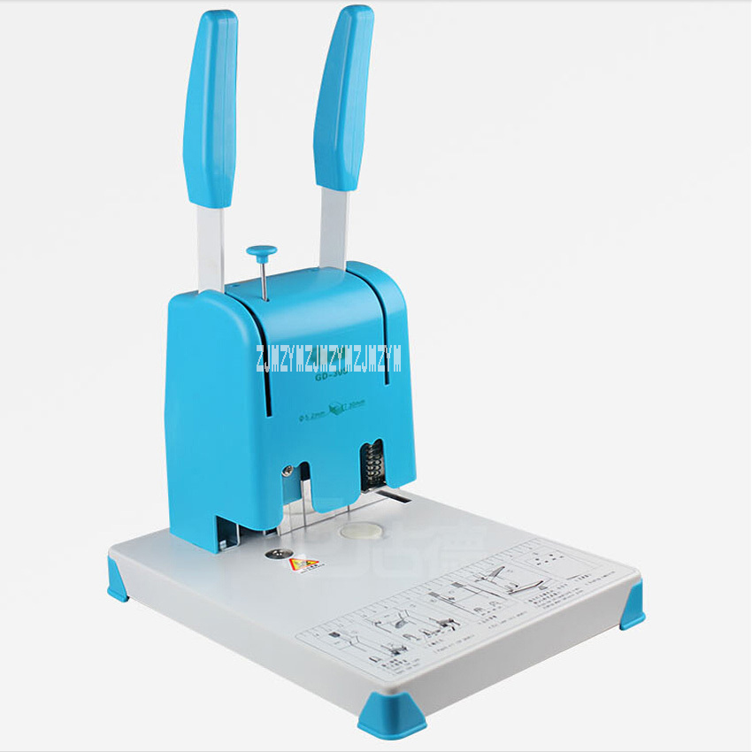 1PC GD30S book binding machine financial credentials document archives binding machine manual drill