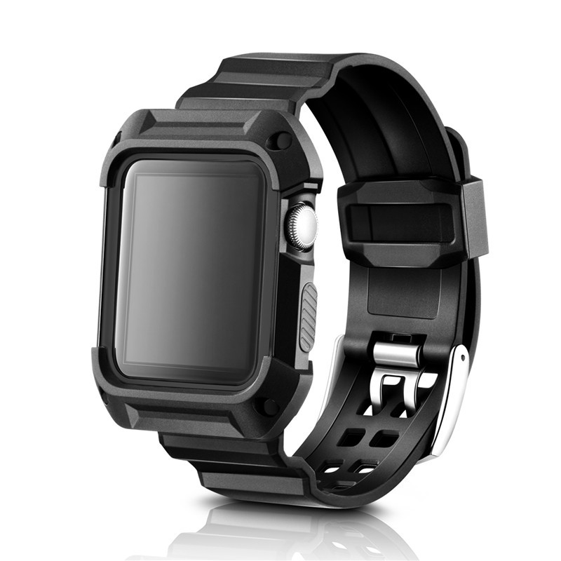 Mode Sport Bracelet Pour Apple Bande de Montre 38mm 42mm En Plastique TPU sangle Pour iwatch Série 1 2 3 Sport Anti-goutte Cas Bracelet