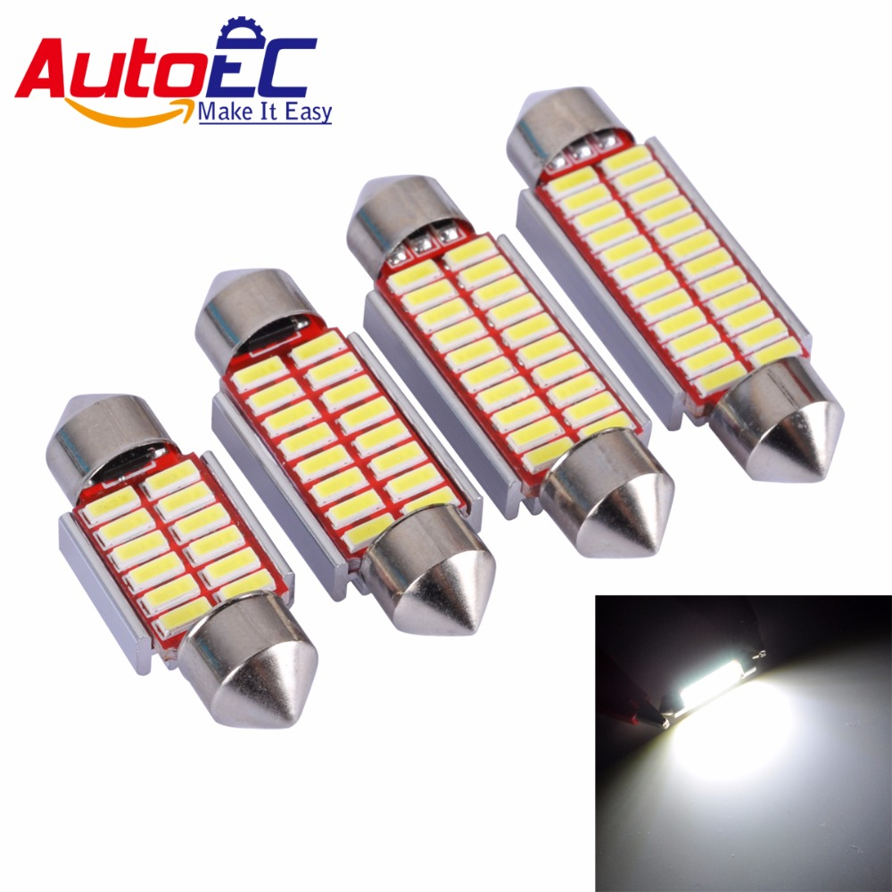 AutoEC 4x 31mm 36mm 39mm 41mm C5W 12 16 20 24 SMD 4014 Bombilla LED - Luces del coche
