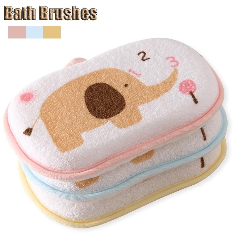 3Pcs/lot Baby Bath Brushes eco-friendly Massager bath sponge Loofah Luffa Back Spa Effective Exfoliator Sponges & Scrubbers