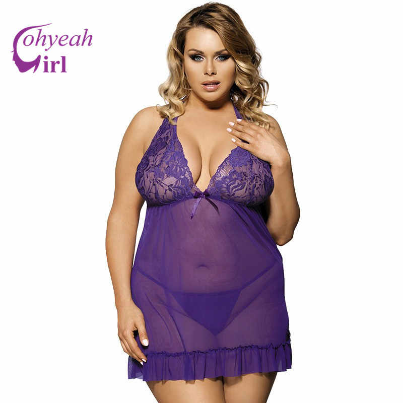 b9a33f93812 ... RW70098 Wholesale and retail womens sexy dresses erotic lace see  through soft nightwear plus size babydoll ...