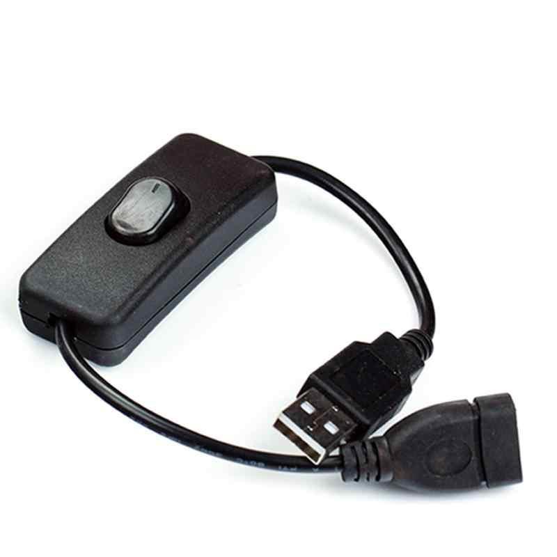 Cable USB nuevo 28cm USB 2,0 A macho A hembra extensor de extensión Cable negro con interruptor ON OFF Cable