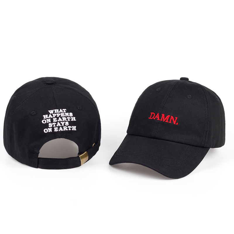 DAMN snapback baseball caps for men and woman Embroidered Dad Hat Hip Hop Stitched Unstructured Rapper Kendrick Lamar Hat массажер nozomi mh 102