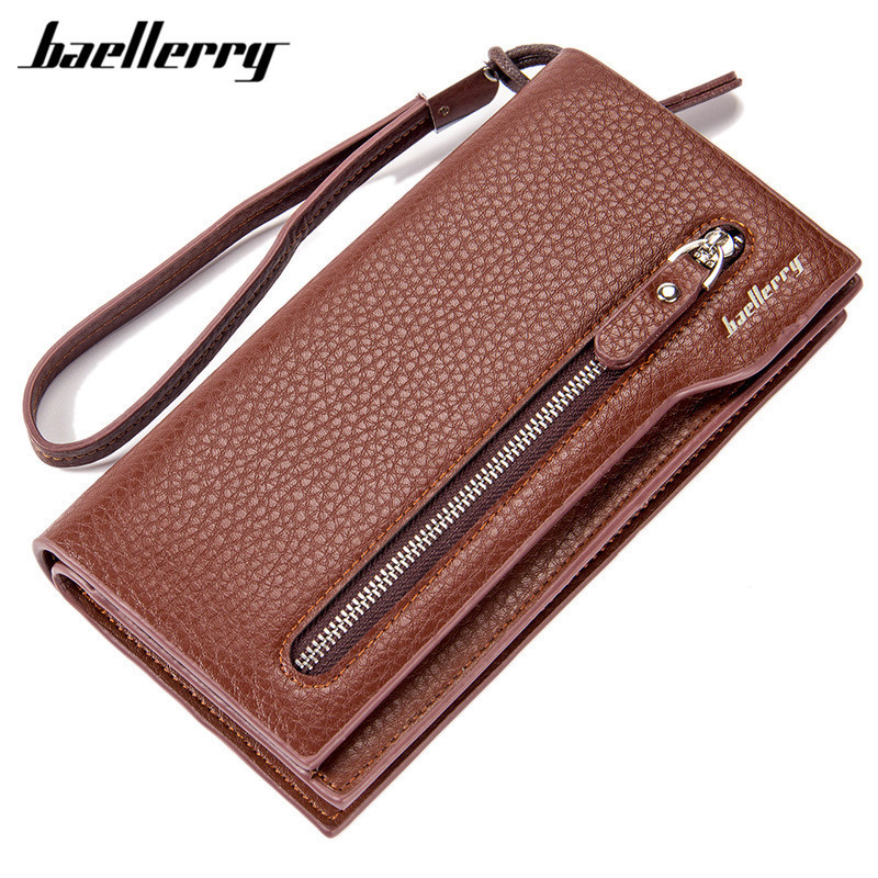 2017 Baellerry leather men wallets quality PU long clutch fashion designer card holders business handbags clips purse pocket new arrival 2017 wallet long vintage man wallets soft leather purse clutch designer card holders business handbags clips