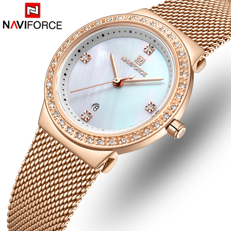 NAVIFORCE Top Luxury Brand Women Watches Female Fashion Analog Quartz Watch Ladies Simple Casual Wrist Watches Relogio Feminino