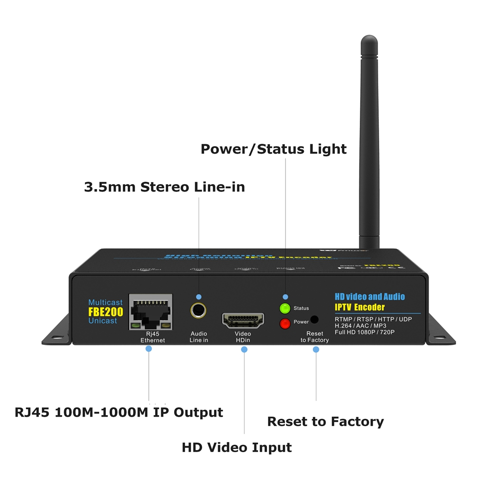 fmuser h 264 high definition hd iptv encoder hdmi to ip live streaming broadcast wifi in radio tv broadcast equipments from consumer electronics on